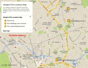 Islington Film Locations Map 01